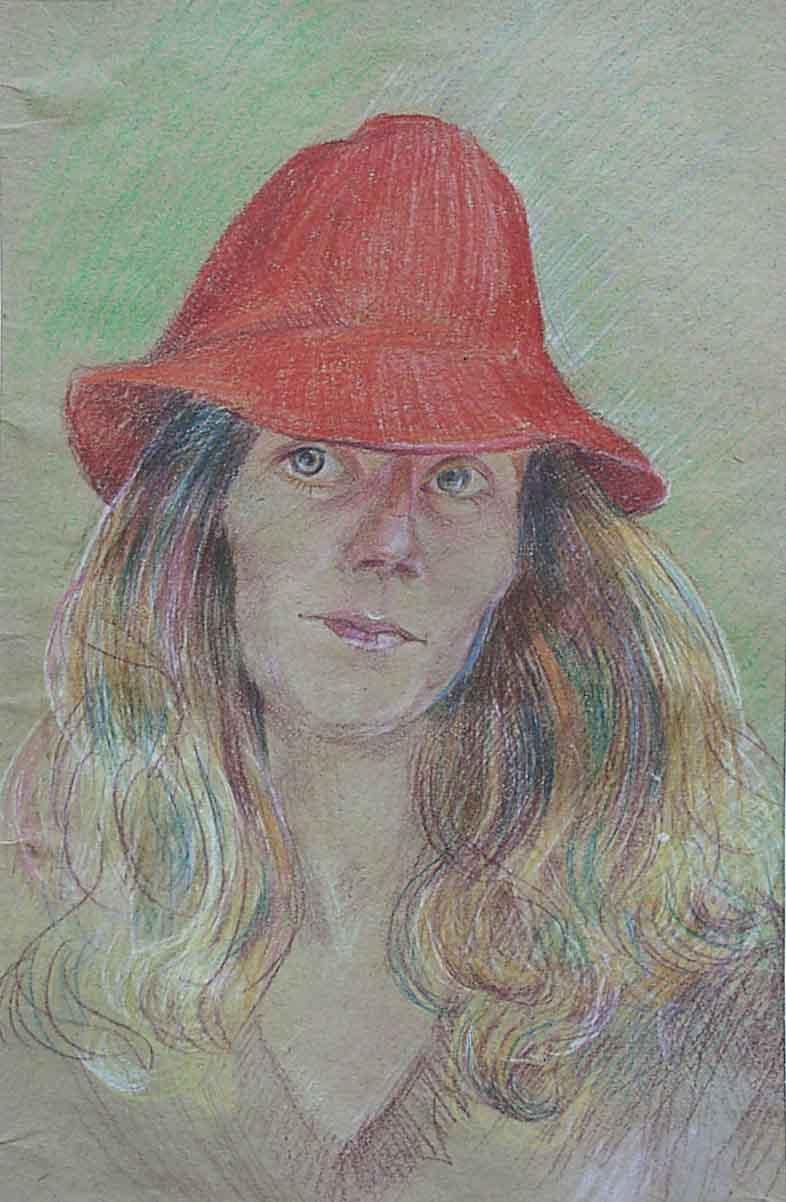 Tamara Kolesnichenko Tamara. 1989 redhat self portrait