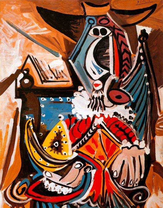 Пабло Пикассо. Человек в золотом шлеме