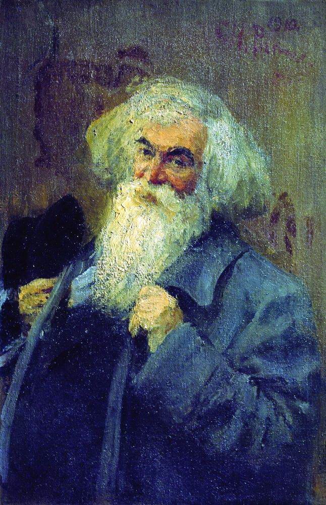 Илья Ефимович Репин. Портрет писателя И. И. Ясинского
