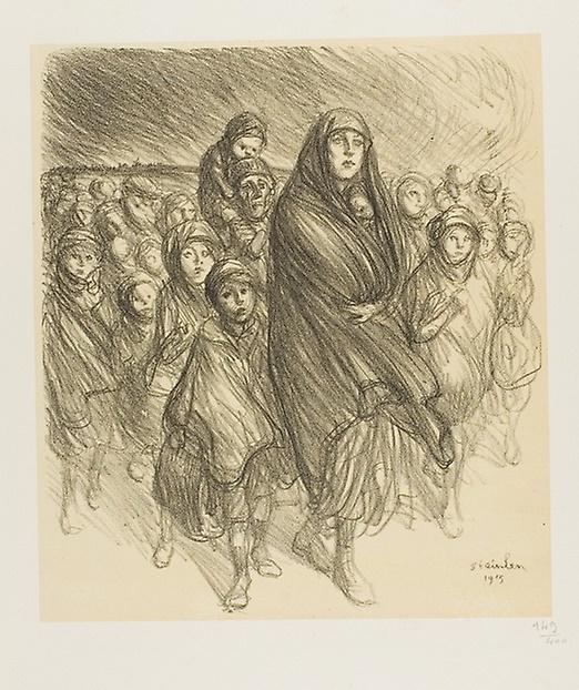 Theophile-Alexander Steinlen. Refugees Belgium