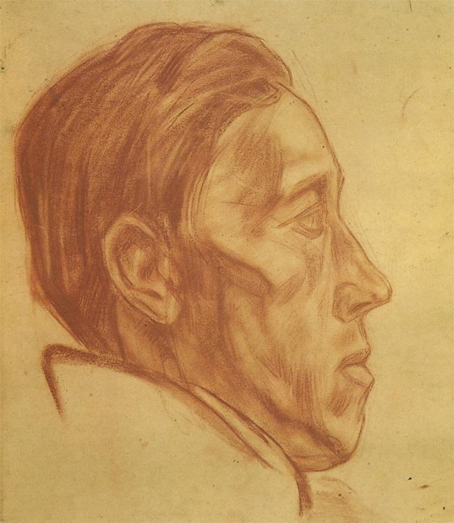 Александр Александрович Дейнека. Мужской портрет в профиль