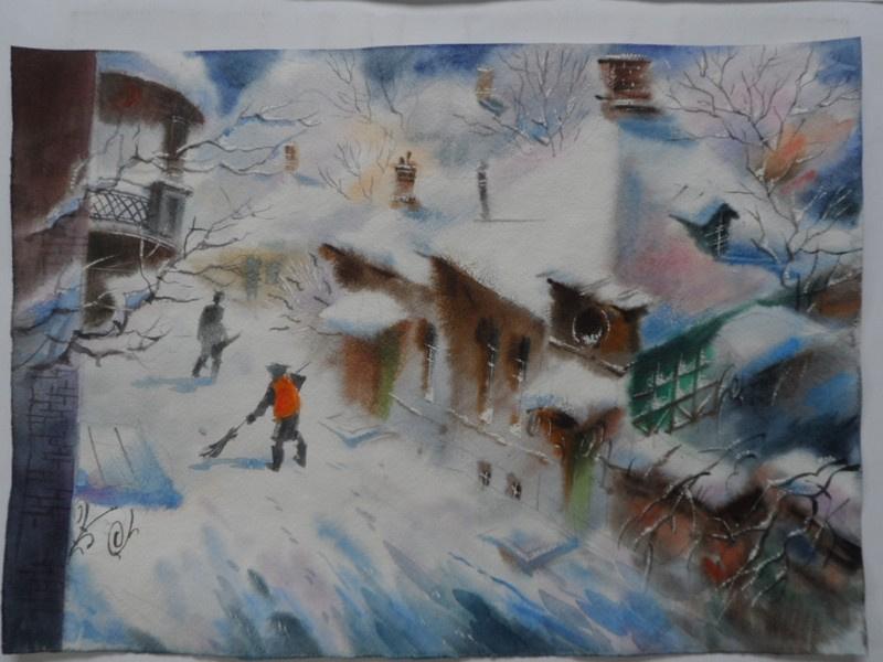 VICTOR ZELIK. Winter morning