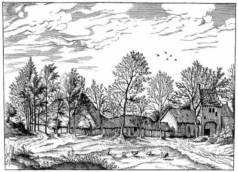 Питер Брейгель Старший. Серия Малые пейзажи, пейзаж №1