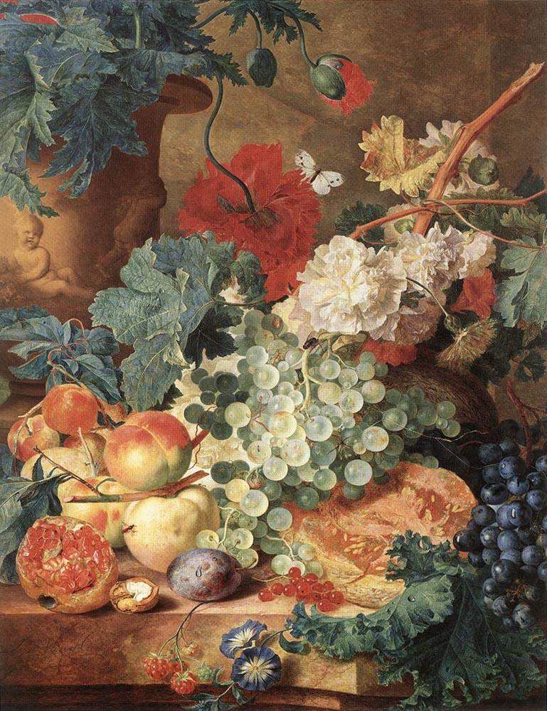 Ян ван Хейсум. Виноград и бабочка