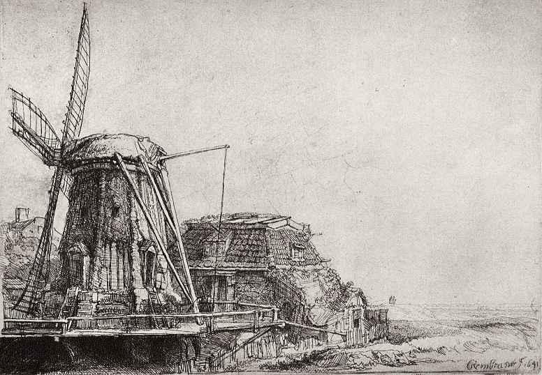 Рембрандт Ван Рейн. Ветряная мельница