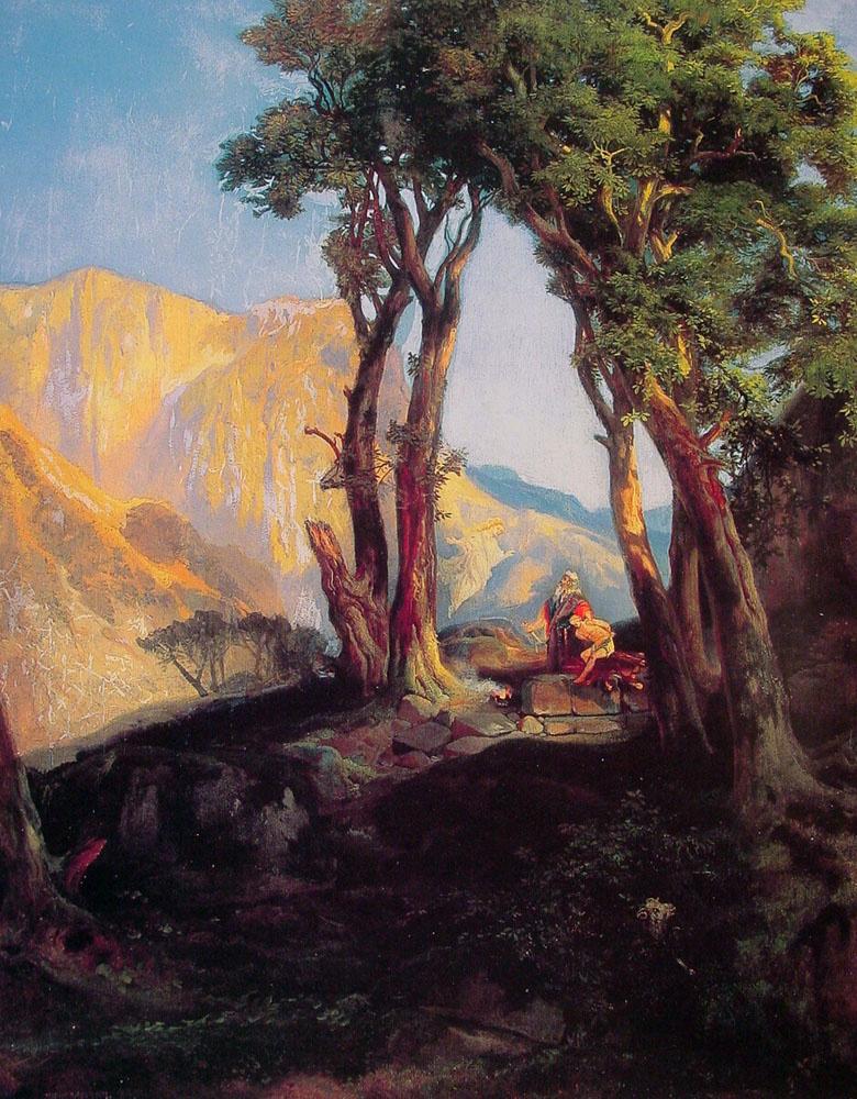 Thomas Moran. The Sacrifice Of Isaac