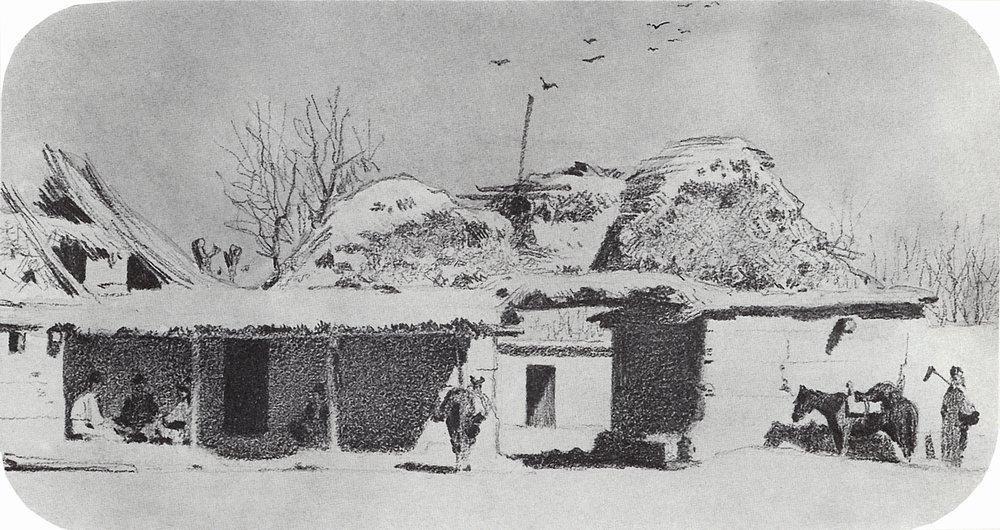 Василий Васильевич Верещагин. Постоялый двор близ Ташкента