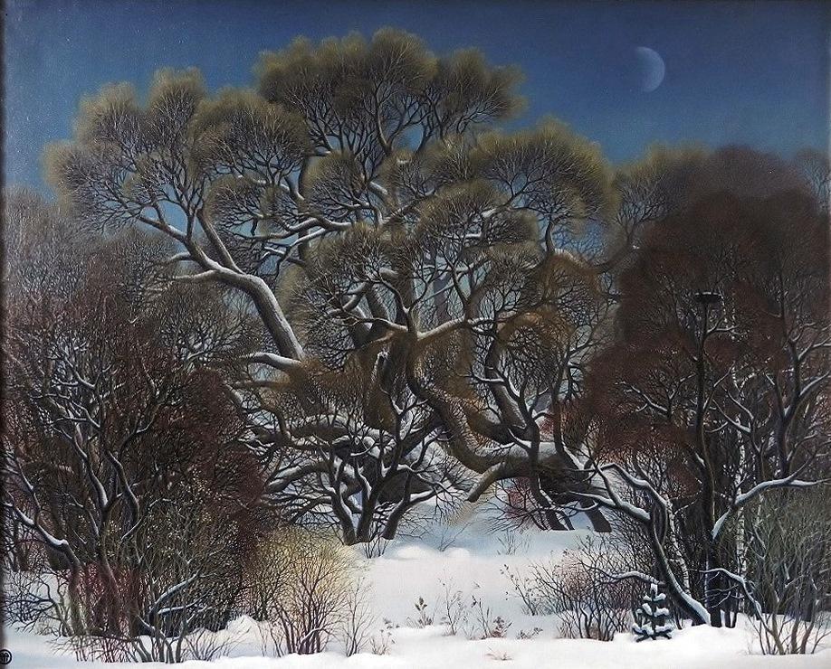 "Vasily Vasilyevich Timofeev. ""Winter willow"""