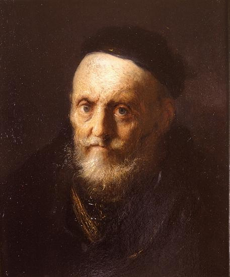 Jan Lievens. Portrait of an old man in a beret