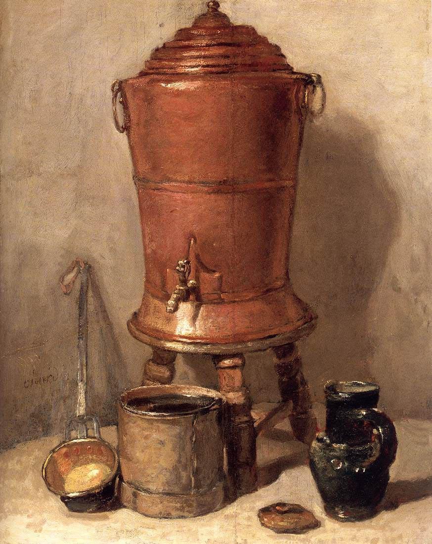 Jean Baptiste Simeon Chardin. Copper tank