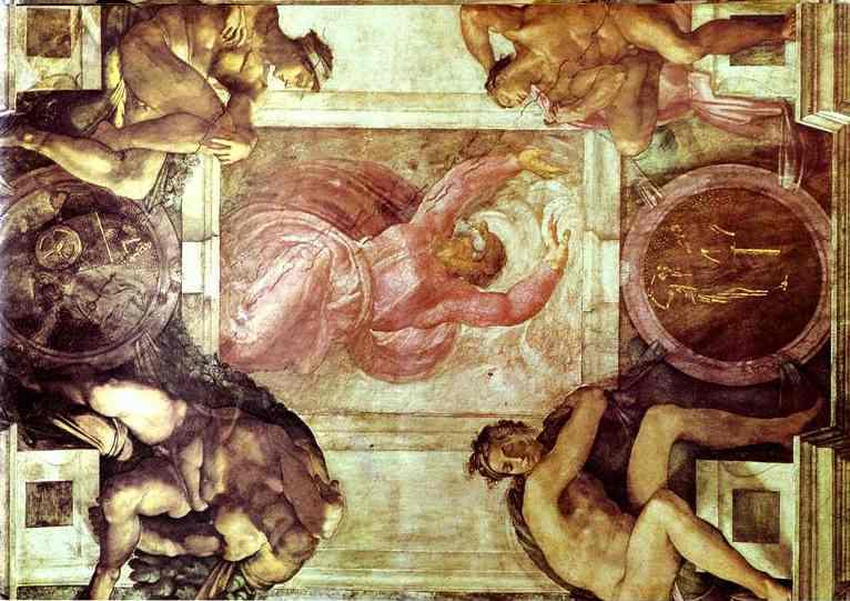 Микеланджело Буонарроти. Отделение света от тьмы