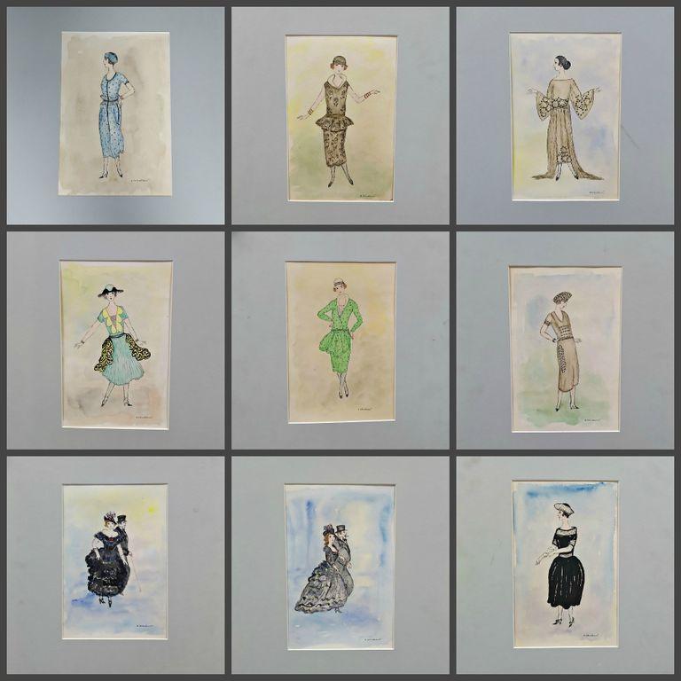 Vladimir Ignatievich Sobolevsky. Costumes sketches