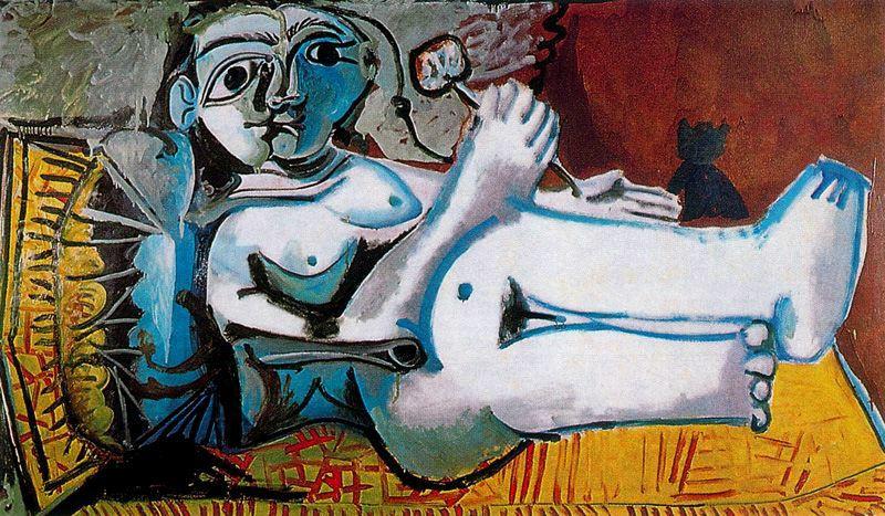 Пабло Пикассо. Лежащая обнаженная