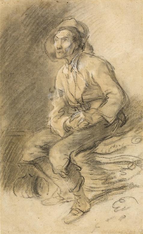 Thomas Gainsborough. Lumberjack sitting on a bundle of brushwood