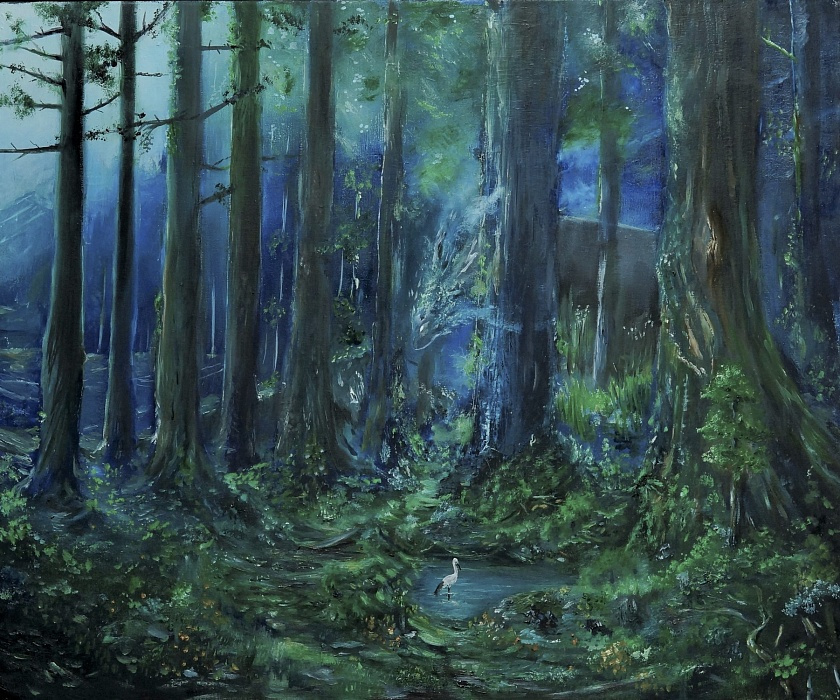 Karolina Valeryevna Pavlenko. Forest spirit oil painting