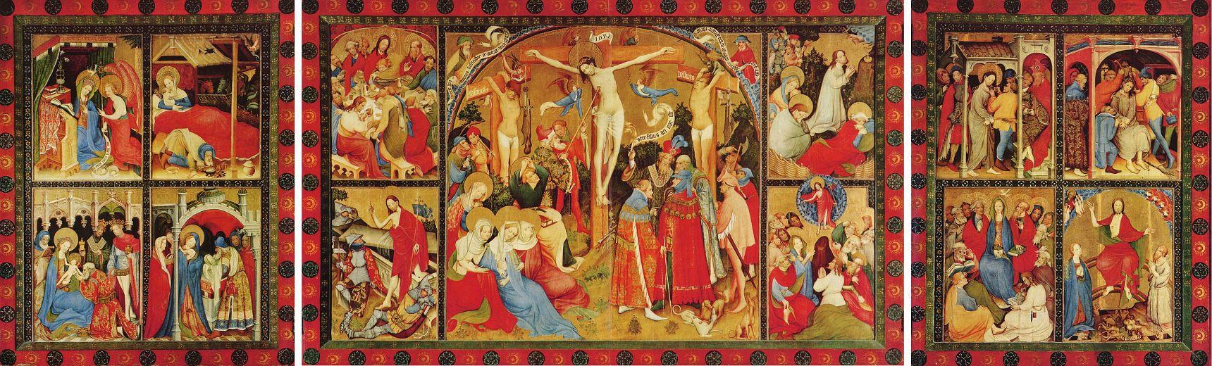 Конрад фон Зост. Алтарь Страстей Христовых. Вильдунгенский алтарь, общий вид
