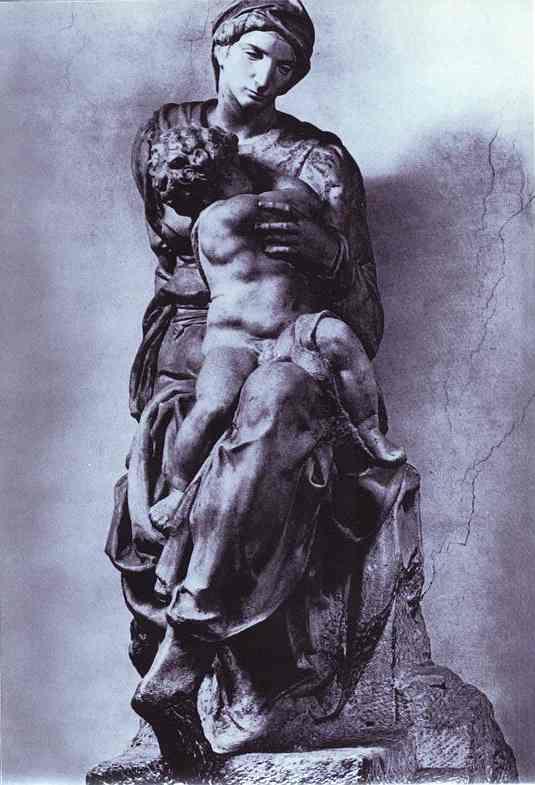 Микеланджело Буонарроти. Мадонна Медичи. Эскиз.