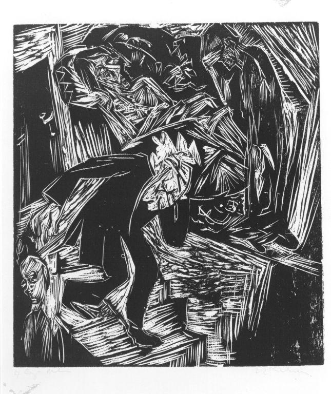 Ernst Ludwig Kirchner. David mourns Absalom