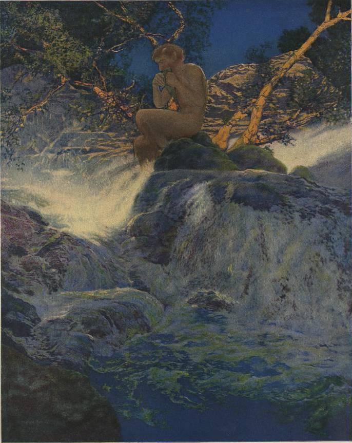 Максфилд Пэрриш. Странствующий Пан на берегу горного ручья