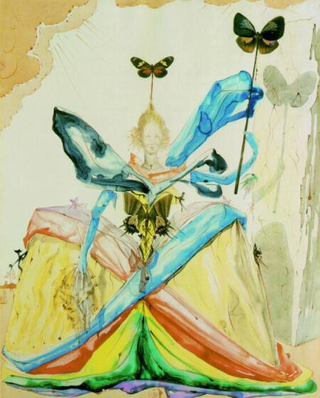 Salvador Dali. Queen of butterflies