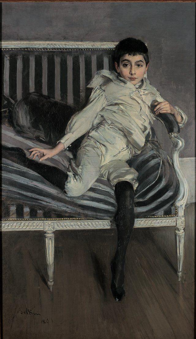 Giovanni Boldini. Portrait of a young Syuberkazo