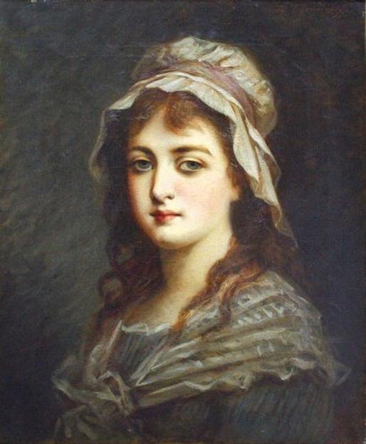 Федор Петрович Чумаков. Портрет девушки. Конец XIX в.