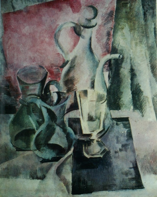 Alexander Alexandrovich Osmercin. Jug on a pink background. From the collection of A.F. Chudnovsky