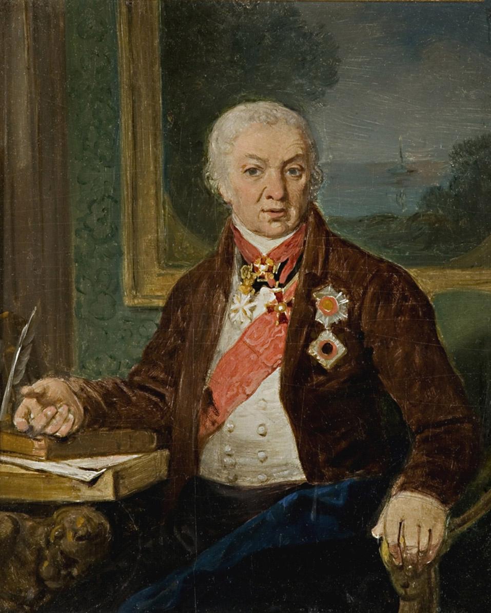 Vladimir Borovikovsky. Portrait of D.P. Troshchinsky. Sketch