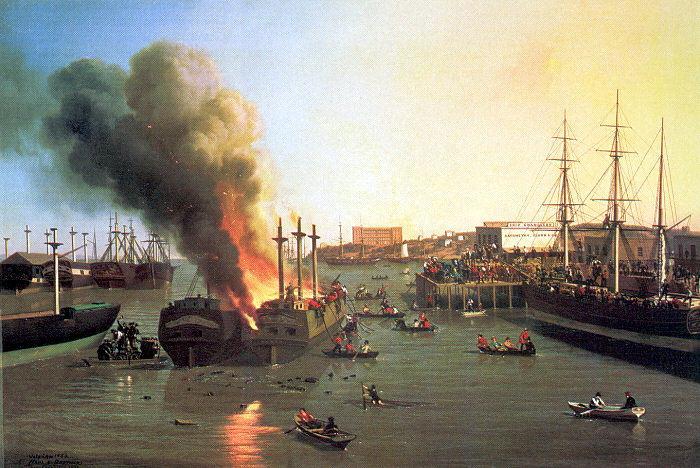 Чарльз христианские Наль. Пожар на судне