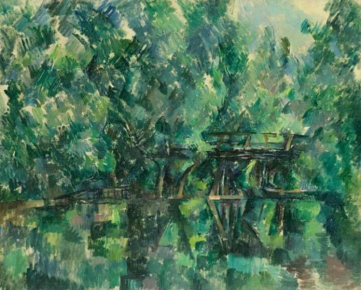 Paul Cezanne. Bridge over the pond