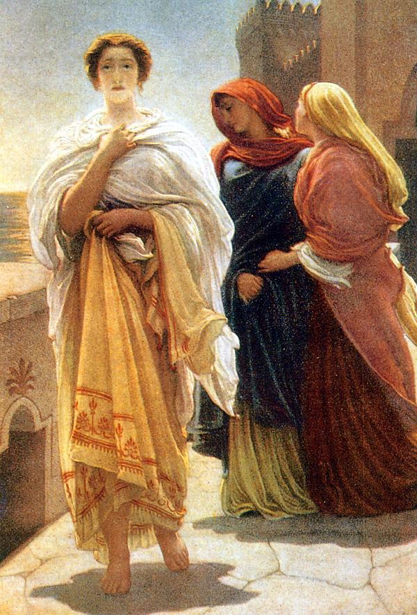Frederic Leighton. Elena on the walls of Troy