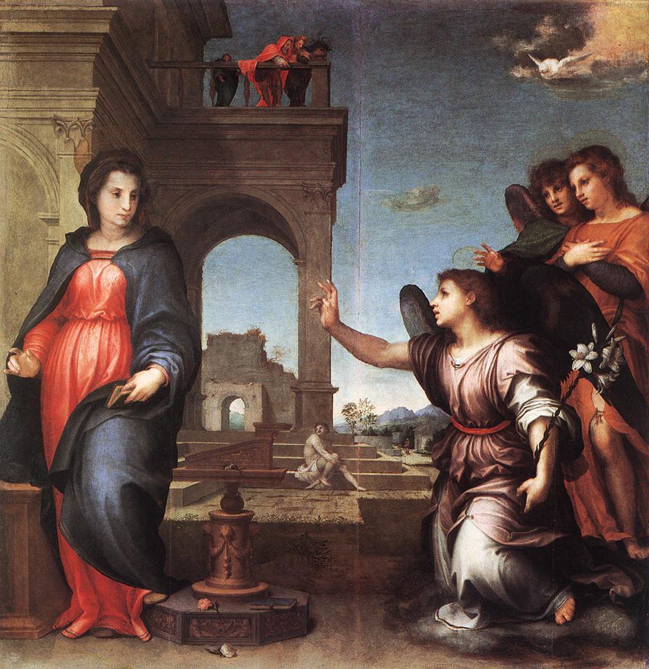 Andrea del Sarto. The Annunciation