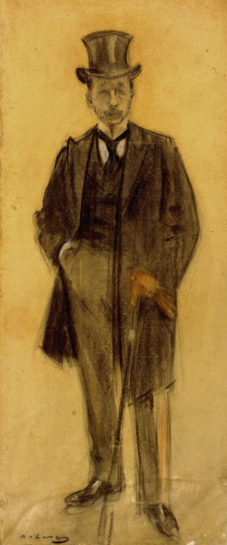 Ramon Casas i Carbó. Portrait of Per Koll Rataflutis