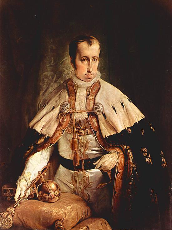 Франческо Айец. Портрет императора Фердинанда II Австрийского