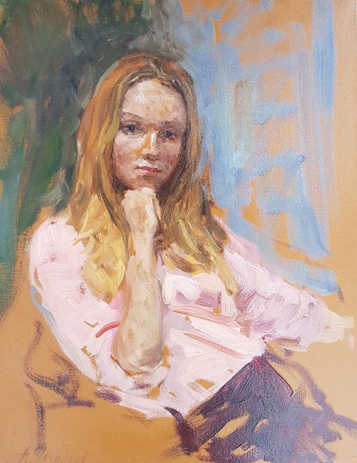 Aleksandr Chagadaev. Portrait of a girl