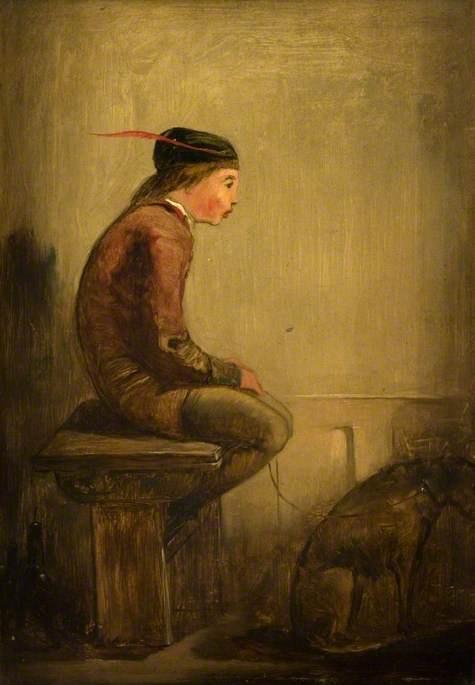 Эдвард Лир. Lance and his dog