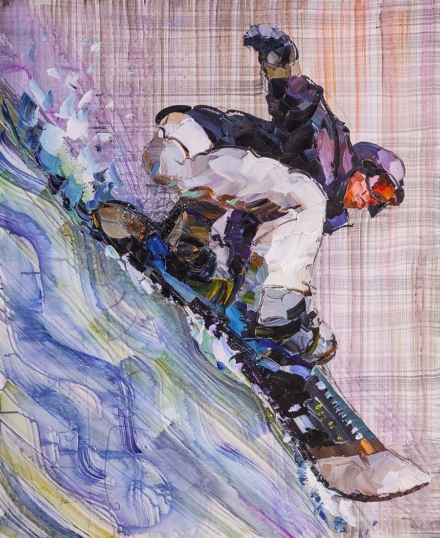 Jose Rodriguez. Snowboarder. Descent from Everest