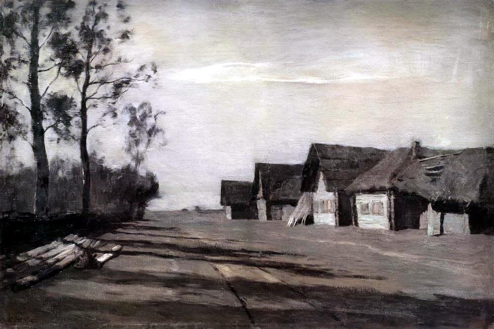 Исаак Ильич Левитан. Лунная ночь. Деревня