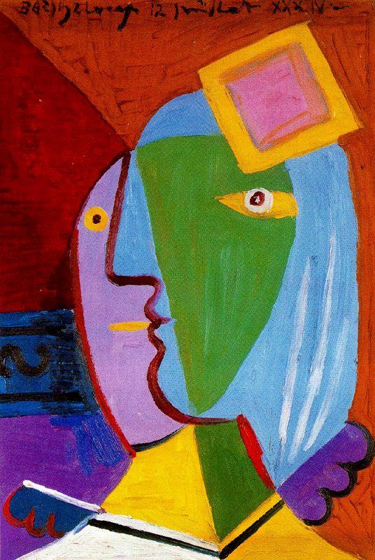 Пабло Пикассо. Женщина в шляпке (Мари-Терез Вальтер)