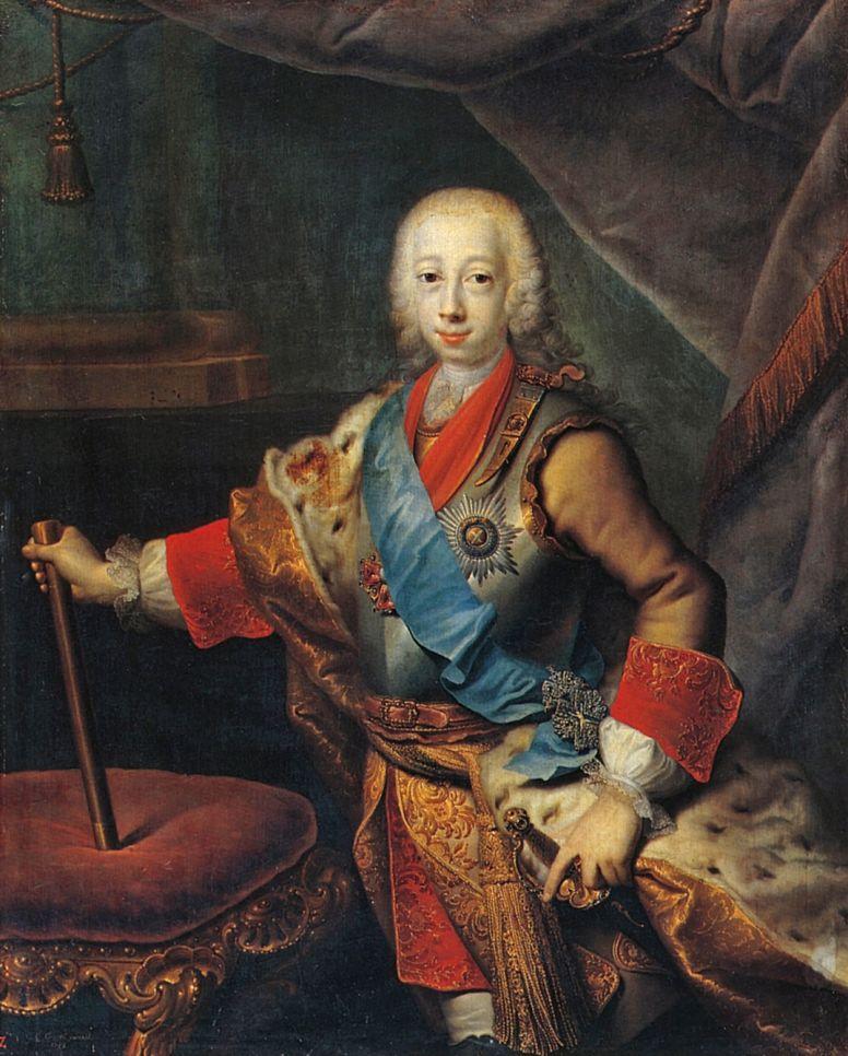 Георг-Христофор Гроот. Портрет великого князя Петра Федоровича