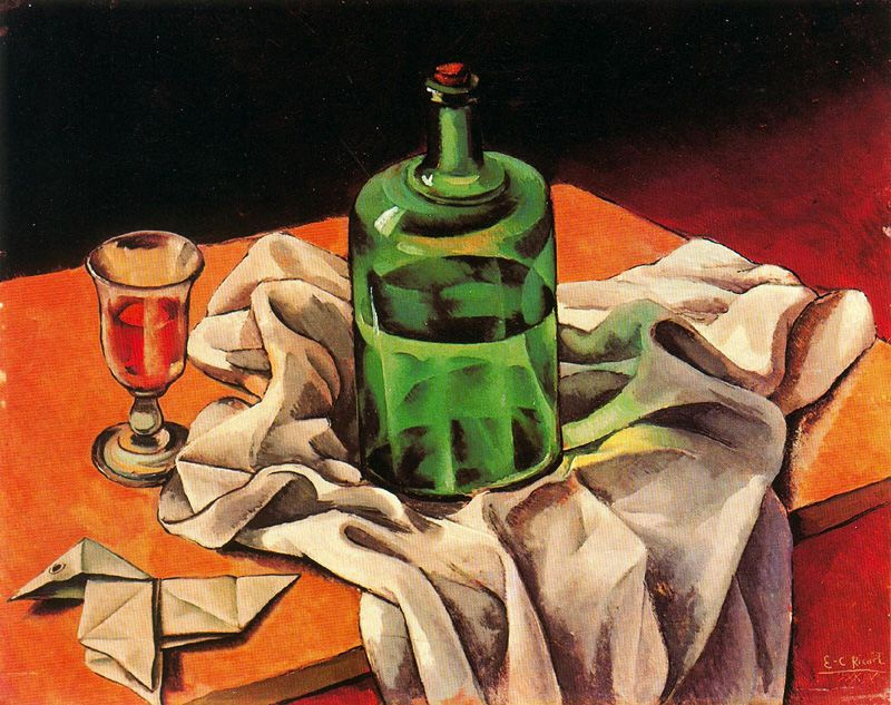 Enrik Rikart. Still life with glass