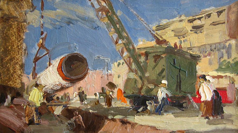 Anatoly Akimovich Nenartovich. Gas pipeline laying.