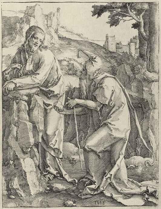Лукас ван Лейден (Лука Лейденский). Искушение Христа