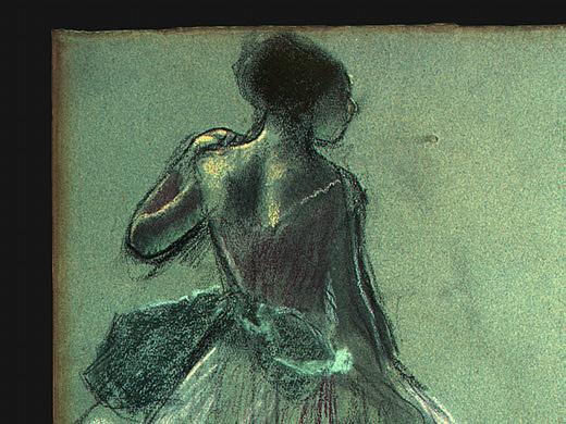 Эдгар Дега. Танцовщица вид сзади (фрагмент)