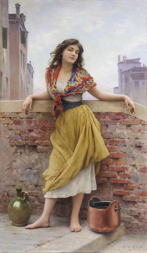 Eugene de Blaas. Girl with water