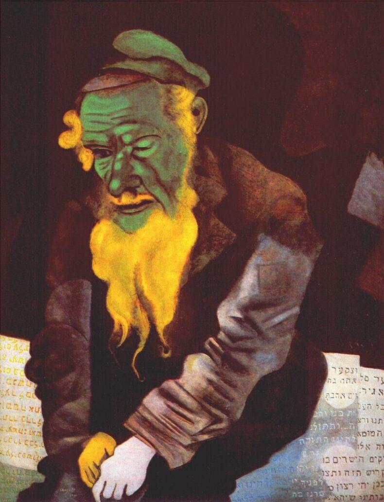 Marc Chagall. Green Jew