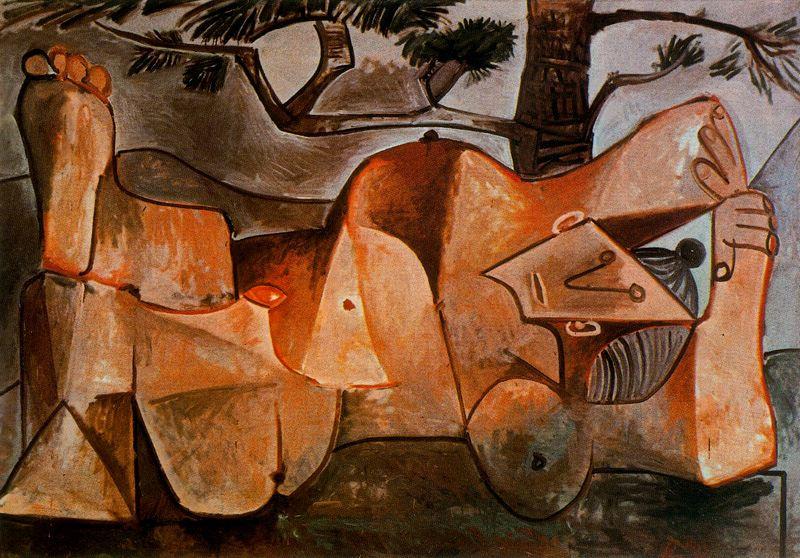 Пабло Пикассо. Обнаженная под сосной