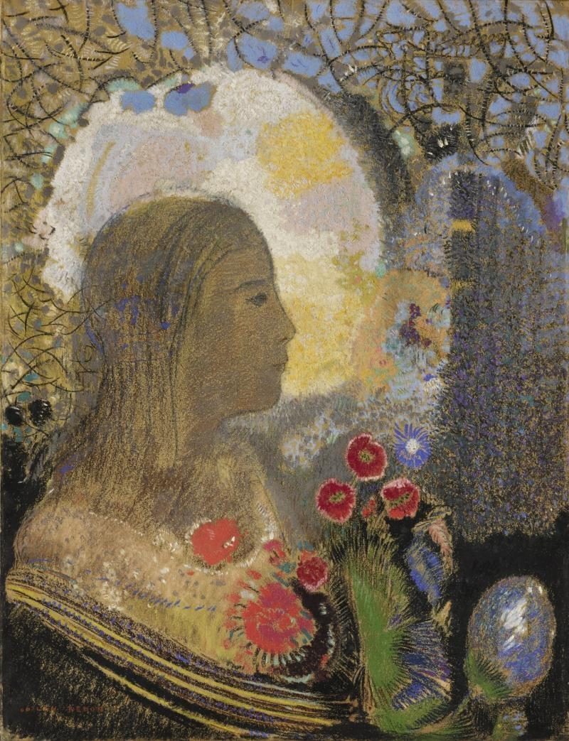 Одилон Редон. Плодородие: Женщина в цветах
