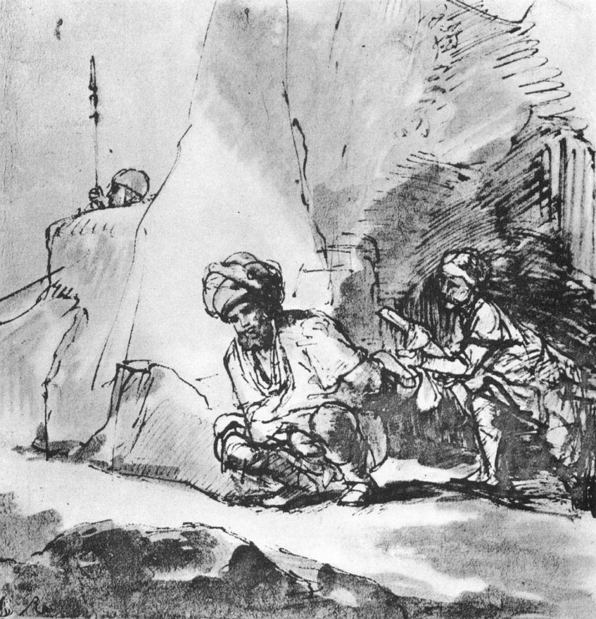 Рембрандт Харменс ван Рейн. Давид щадит Саула