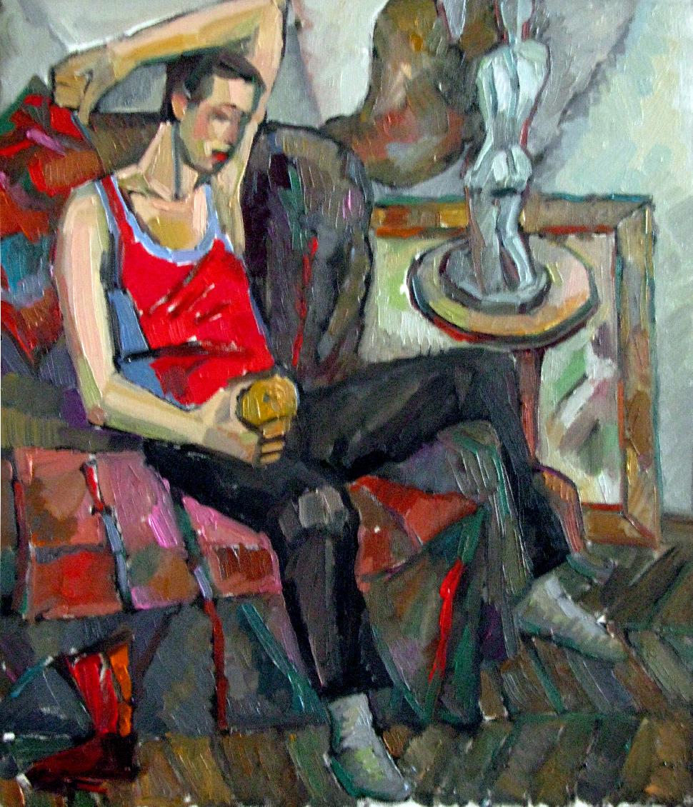 Ekaterina Konstantinovna Krestyaninova. Boy with apple